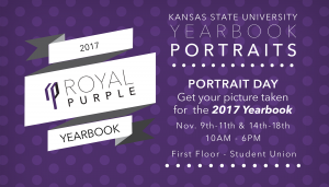 Get your picture taken for the 2017 yearbook. Nov. 9th-11th & 14th-18th 10AM - 6PM First floor of the Student Union